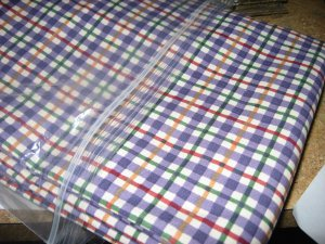 NEW Longaberger Blueberry Plaid Cotton FABRIC 5 Yards Uncut