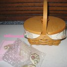 1999 Longaberger Horizon of Hope Basket Combo w/Lid  Breast Cancer Awareness