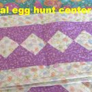 NEW Custom Quilted Longaberger Easter Plaid & Egg Hunt Fabric Table Runner - CHOICE
