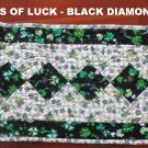 NEW Custom Quilted Table Runner Longaberger Lots of Luck Shamrock St Patrick's Day