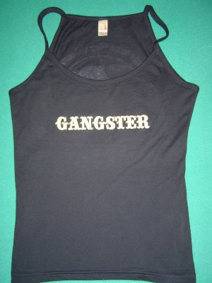 "Women's Gangster Bull ""Teardrop"" Spaghetti Top - MEDIUM"