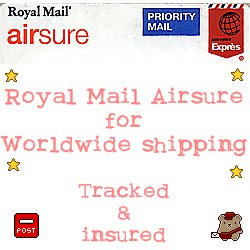 Royal Mail Airsure (for worldwide shipping)