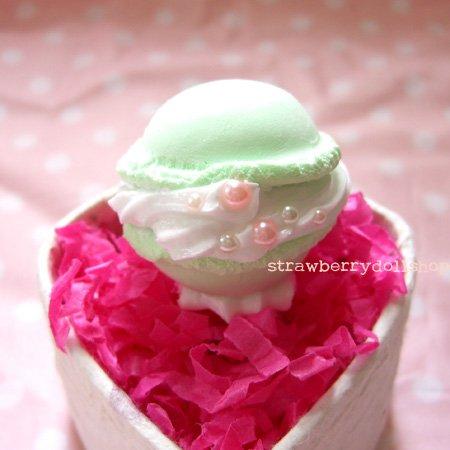 [SALE] Macaron ring [mint, round]