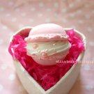 Macaron ring [pink, round]