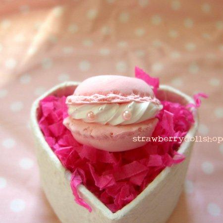 Macaron ring [pink, flat]
