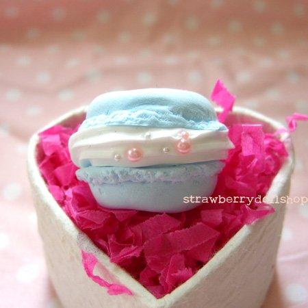 Macaron ring [blue, flat]