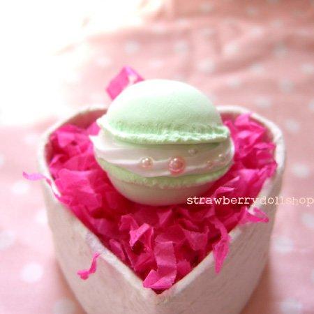 Macaron ring [mint, round]
