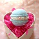 Macaron ring [blue, round]