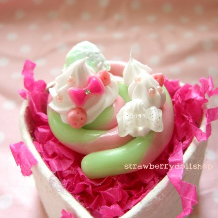 Lollipop ring [mint x pink, pink berries, mint mini ice cream]
