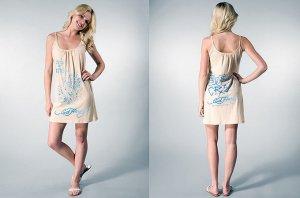 Ed Hardy Angel Surf Rhinestone Tank Dress Beige