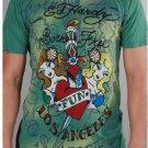 Ed Hardy Born Free Fun Green Mens T-Shirt