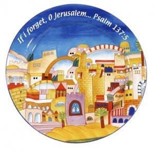 Jerusalem Ceramic Plate