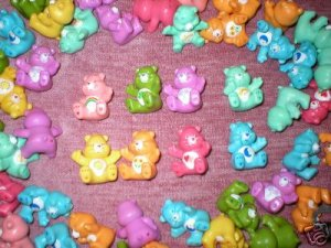 WHOLESALE LOT 12 CARE BEAR FIGURES PARTY FAVORS NEW TOY