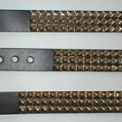 METAL STUDDED STUD BELT MENS WOMENS BLACK SIZE MEDIUM