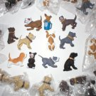 WHOLESALE LOT 20 ASSORTED DOG FIGURES PIT BULLS + OTHER BREEDS PARTY FAVORS NEW