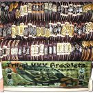 WHOLESALE LOT 12 TRIBAL SURFER LEATHER BRACELET JEWELRY