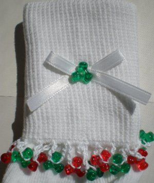 Holiday Tri Beads-Embroidered Socks