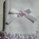 Light Purple Tri Beads-Embroidered Socks