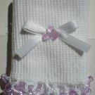 Light Purple Tri Beads-Embroidered Socks