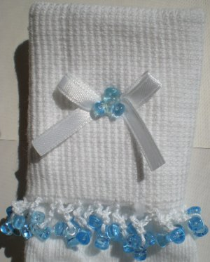 Baby Blue Tri Beads-Embroidered Socks