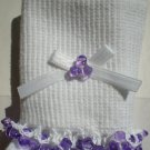 Violet Tri Beads-Embroidered Socks