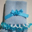 Aqua Blue Tri Beads-Embroidered Socks
