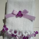 Light/Dark Purple Tri Beads-Embroidered Socks