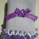 Purple Tri Beads-Embroidered Socks