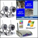 4 Camera Wireless QUAD DVR Security System WINDOWS 7 64bit