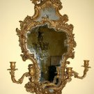 Pair of George III style gilt-wood girandoles