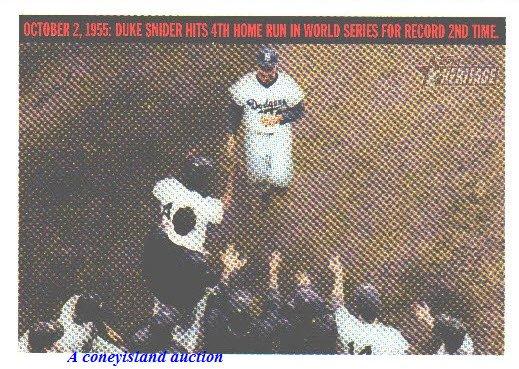 2004 Duke Snider Brooklyn Dodgers Topps Heritage Flash Backs Card F1