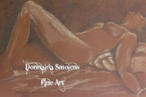 Brown Nude Reclining