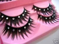 False Lashes with Rhinestones