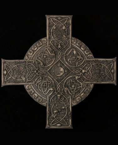 Elemental Cross Stone Finish Plaque