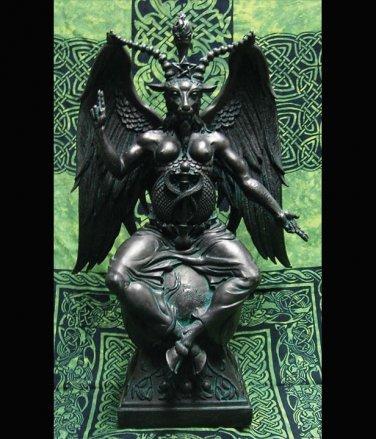 Baphomet Black Resin Statue