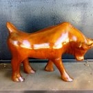"""10"""" Hand Carved Beautiful Bull Wooden Sculpture"""