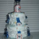 Yankees Fan 2 Tier Diaper Cake
