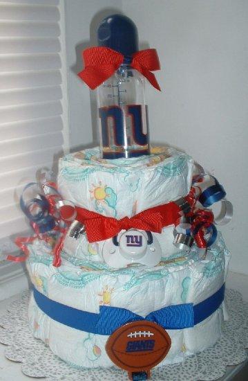 Giants Fan (medium) 2 Tier Diaper Cake