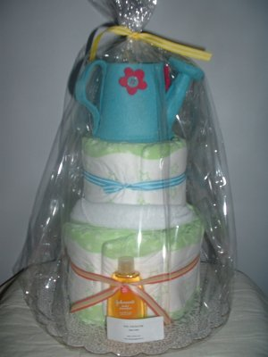 Little Gardener 2 Tier Diaper Cake