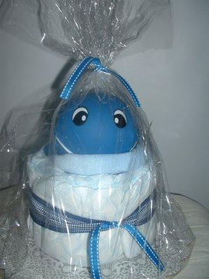 Blue Whale-Mini Diaper Cake