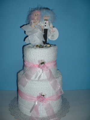 Fairy Bridal Towel Cake