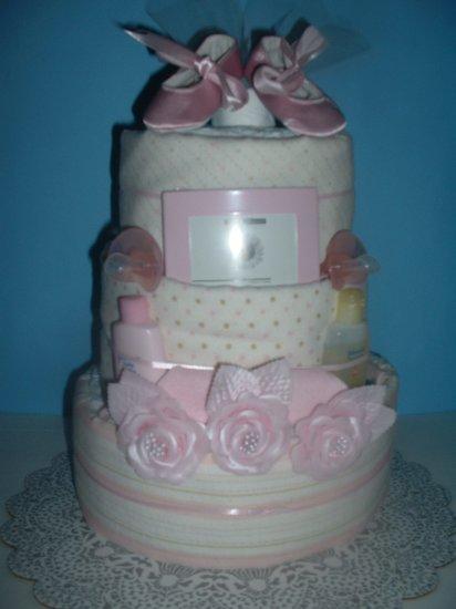Diaper Cake-3 Tier Ballerina(Pink)