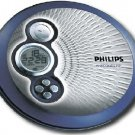 Philips Portable CD Player with FM Radio Headphones  Blue and Silver