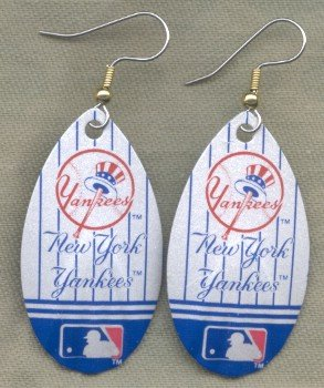 New York Yankees Ear Rings