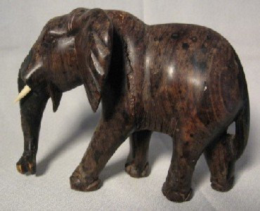 Elephant Wood Carving