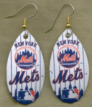 New York Mets Ear Rings