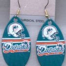 Miami Dolphins Ear Rings