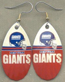 New York Giants Ear Rings