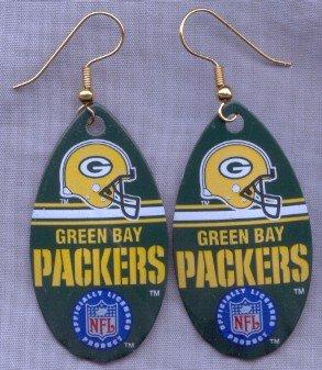 Green Bay Packers Ear Rings
