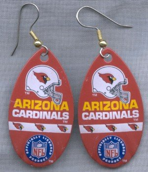 Arizona Cardinals Ear Rings